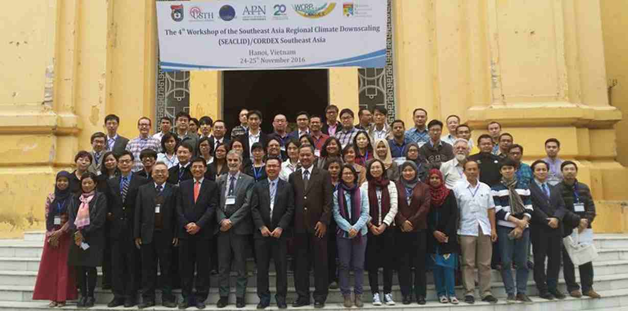 The 4th Workshop of the Southeast Asia Regional Climate Downscling (SEACLID)/CORDEX SEA Southeast Asia